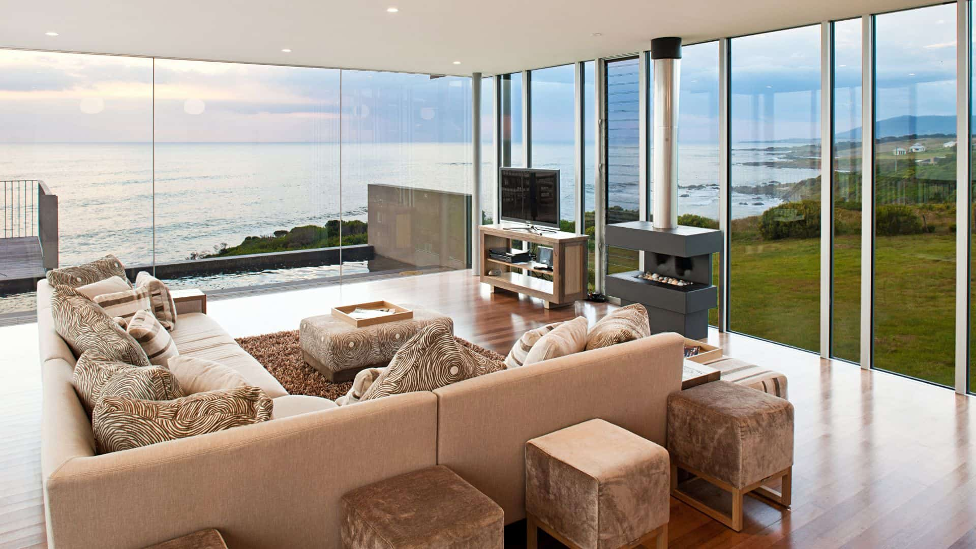 Living area at The Ocean Retreat