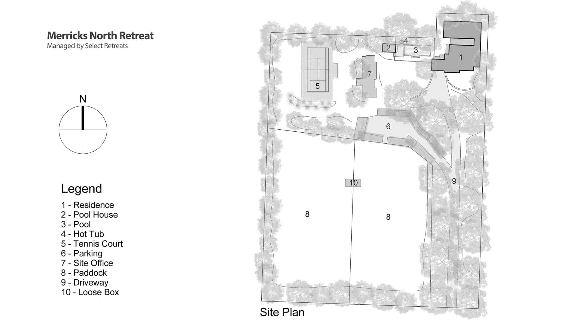 Merricks North Retreat Site Plan